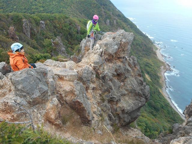 秋の赤岩クライミング学習