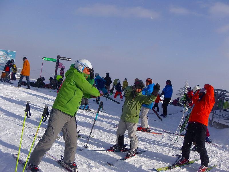 札幌国際スキー場にてスキー基礎トレーニング 2017.12.10