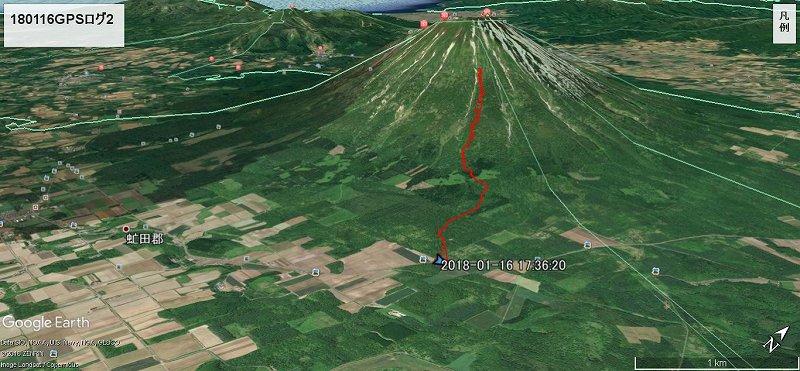 今シーズン初めての羊蹄山・山スキー 2018.1.16
