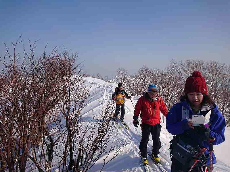 再び丸山(塩谷丸山)秘密コースの急斜面