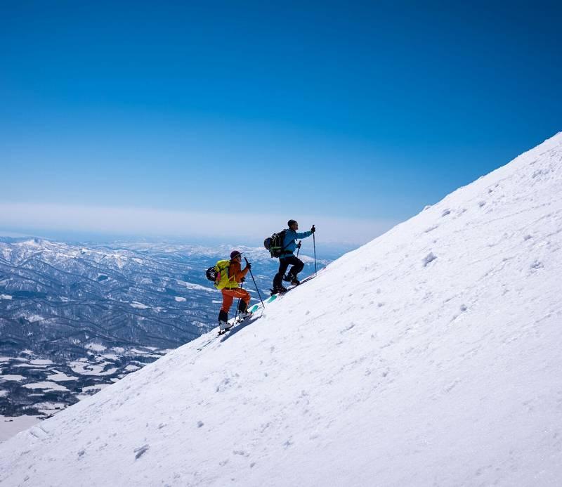 念願の羊蹄山peakとお鉢滑り