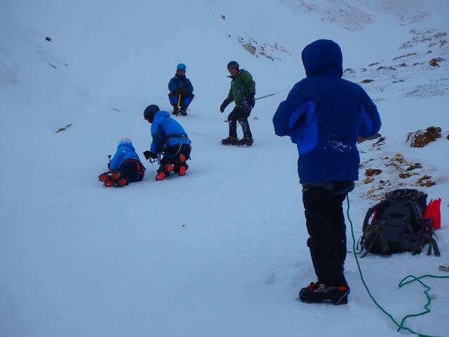 氷雪入門 風の三段山