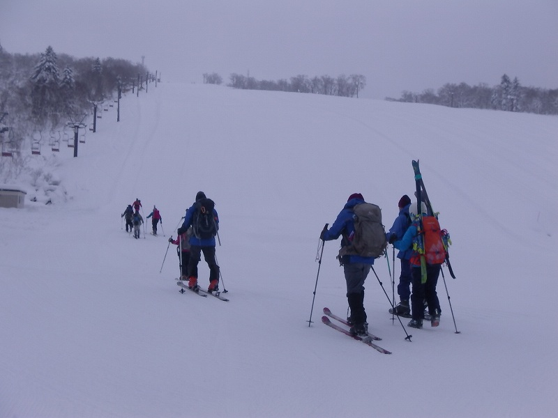 冬山遭難対策山行・中山峠スキー場 2020.1.19