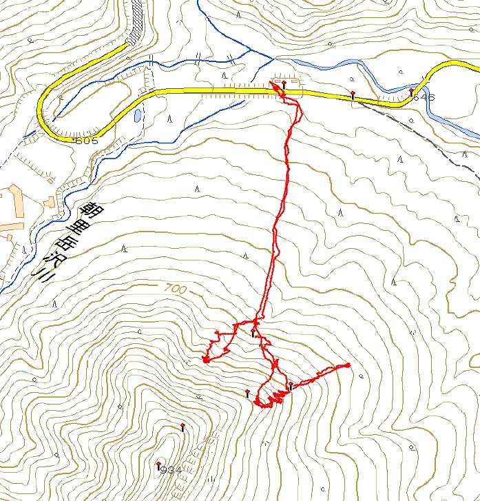 再び「札幌タケノコ山」を滑る 2020.2.29